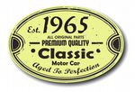 Distressed Aged Established 1965 Aged To Perfection Oval Design For Classic Car External Vinyl Car Sticker 120x80mm